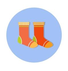 flat design cute baby icon vector image