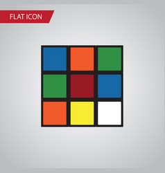 Isolated rubik flat icon cube element can vector