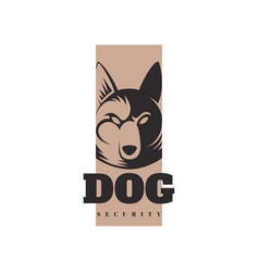 logo template with angry dog vector image vector image