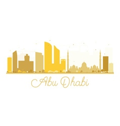 Abu Dhabi City skyline golden silhouette vector image vector image