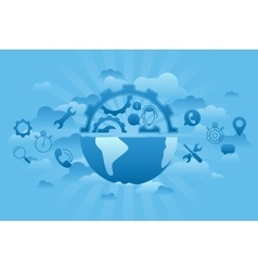 Global Service blue vector image vector image