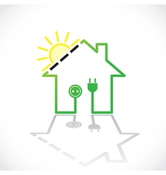 Green house solar circuit vector image vector image