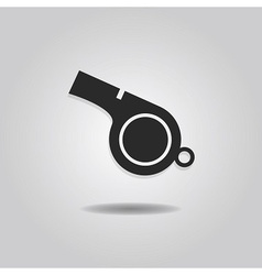 single abstract referee whistle icon vector image vector image