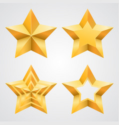 the collection of stars vector image vector image