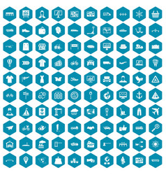 100 logistic and delivery icons sapphirine violet vector