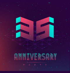35 anniversary night party - poster vector