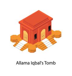 Allama iqbal tomb vector