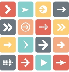 Arrow sign icon set flat design of web design vector image