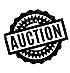 Auction rubber stamp vector image