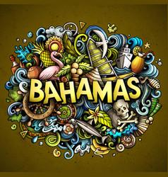 Bahamas hand drawn cartoon doodles vector