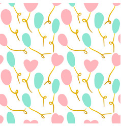 baloon seamless pattern vector image