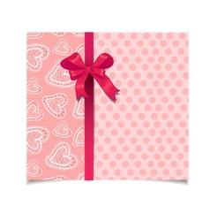 Beautiful vintage pink greeting card vector image
