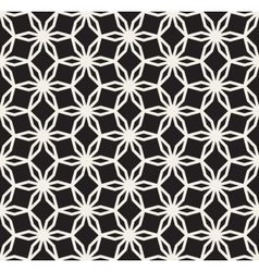 Black and White Seamless Hexagonal Floral vector image