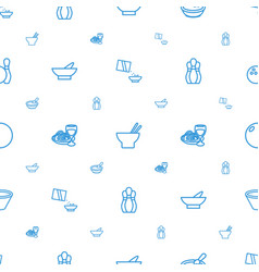 Bowl icons pattern seamless white background vector