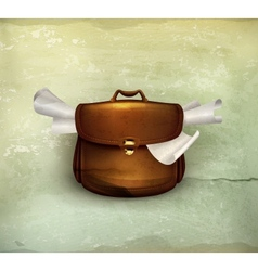 Briefcase old-style vector image