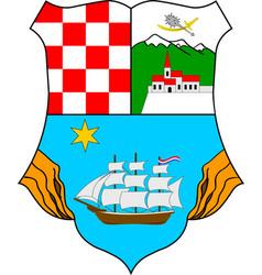 Coat of arms of primorje-gorski kotar county in vector