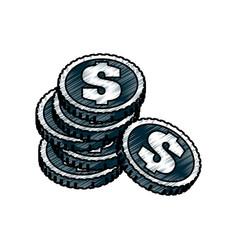 Coins of money vector