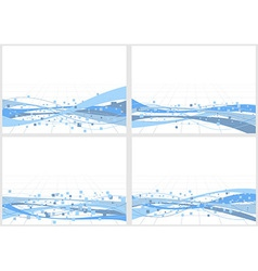Collection of backgrounds with elements vector image