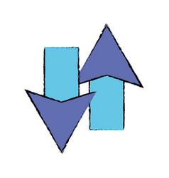Color arrows loading in process icon vector