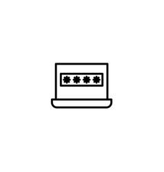 computer password icon vector image