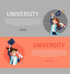 concept cartoon happy students vector image