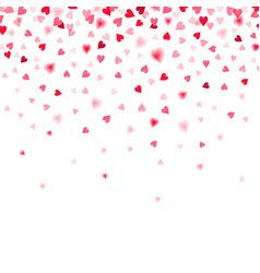 confetti of red falling hearts vector image