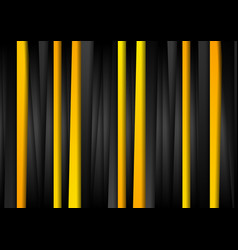 Contrast orange and black stripes abstract vector