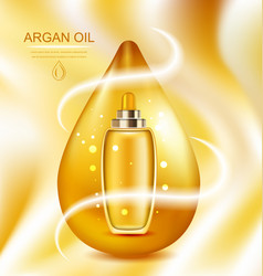 Cosmetic product with argan oil wellness complex vector