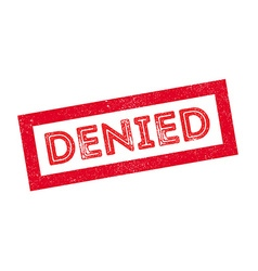 Denied rubber stamp vector image