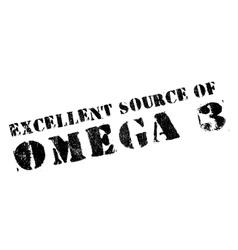 Excellent source of omega 3 stamp vector