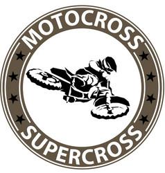 extreme motosport icon vector image