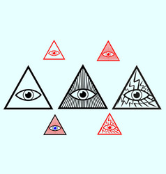 Eye god vector