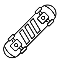 fashion new skateboard icon outline style vector image
