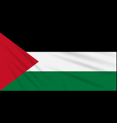 Flag palestine swaying in the wind vector