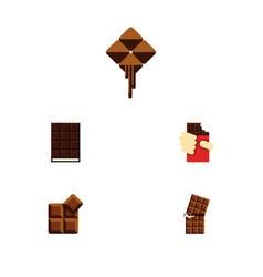 Flat icon sweet set of shaped box dessert vector