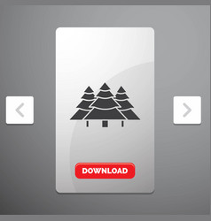 forest camping jungle tree pines glyph icon in vector image