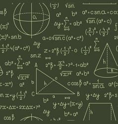formula pattern math or geometry formulas vector image