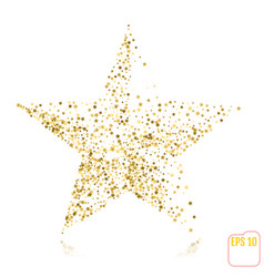 gold star on holiday background golden stars vector image