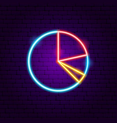 graph pie neon sign vector image