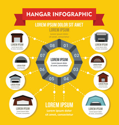 Hangar infographic concept flat style vector