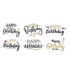 happy birthday celebration concept greeting vector image