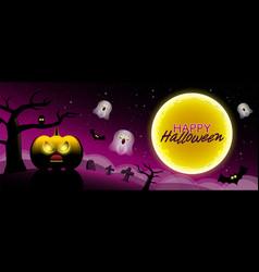 happy halloween type scary night backgrounds vector image