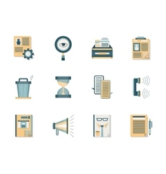 Headhunting flat color icons set vector