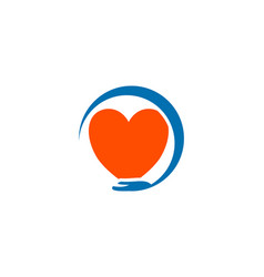 heart care logo design template icon vector image
