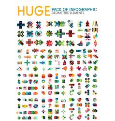 Huge mega pack of infographic option menu layouts vector