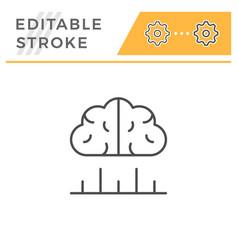 human analytics editable stroke line icon vector image