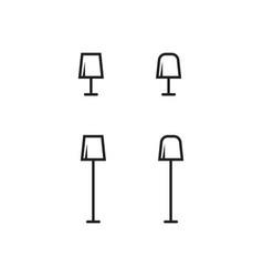 Icon set lamp vector