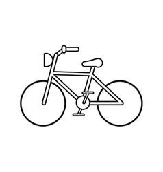 Isolated bike vehicle design vector