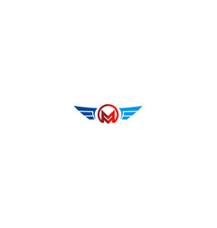 letter m wing business logo vector image