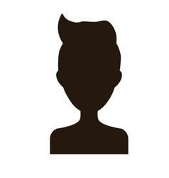man portrait icon image vector image